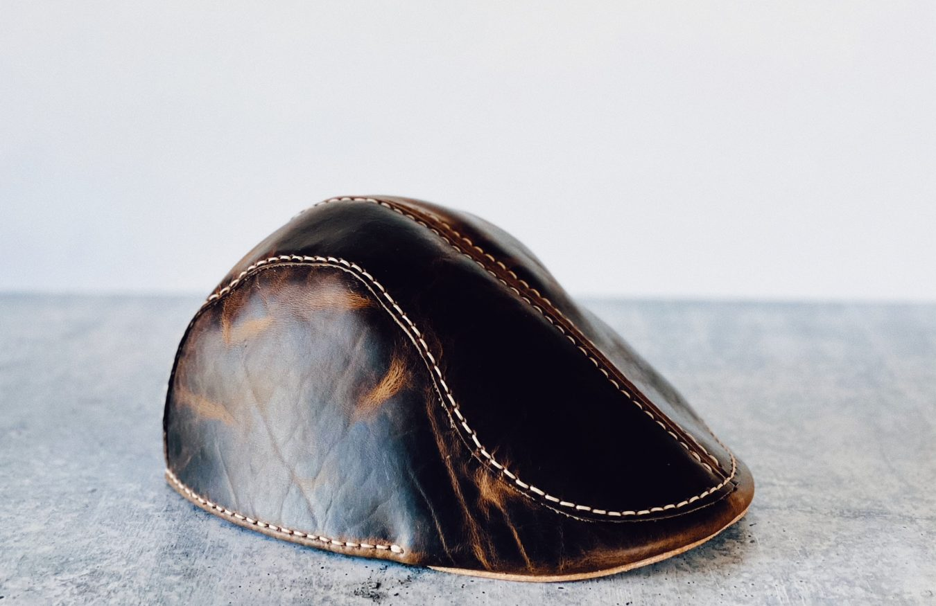 The Leather Flat Cap, Custom Made