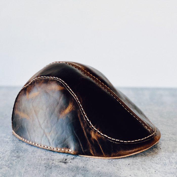 The Leather Flat Cap, Custom Made